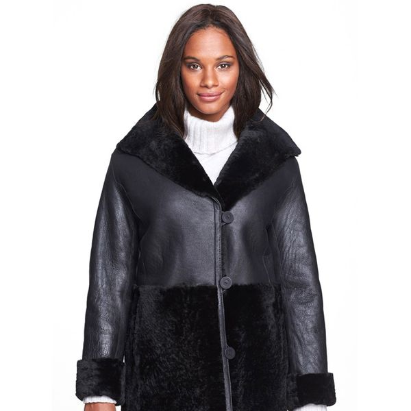 Jessica Wilde Genuine Shearling Jacket