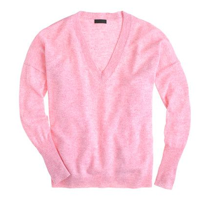 J.Crew Collection Cashmere Boyfriend V-Neck Sweater