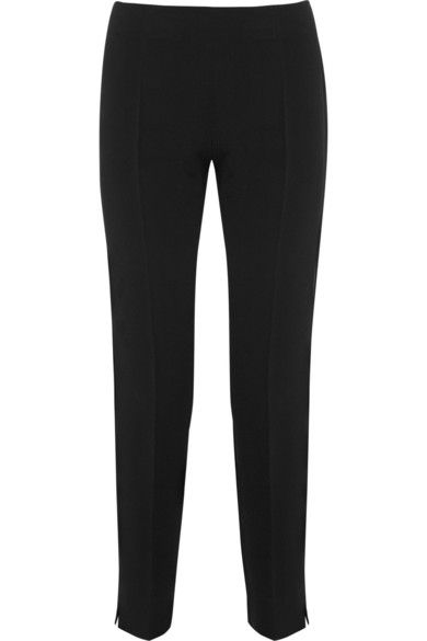 Antonio Berardi Stretch-Crepe Straight-Leg Pants