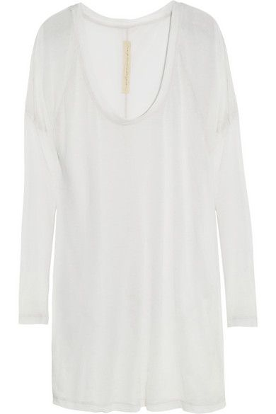 Raquel Allegra Burnout Cotton-Blend Jersey T-Shirt
