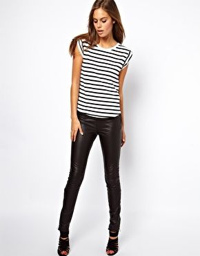 Selected Sabrina Zip Leather Pants