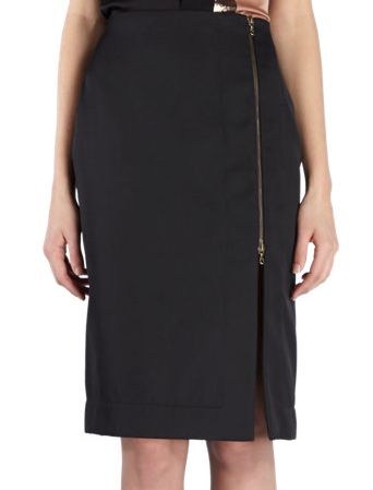 Lanvin Front-Zip Pencil Skirt