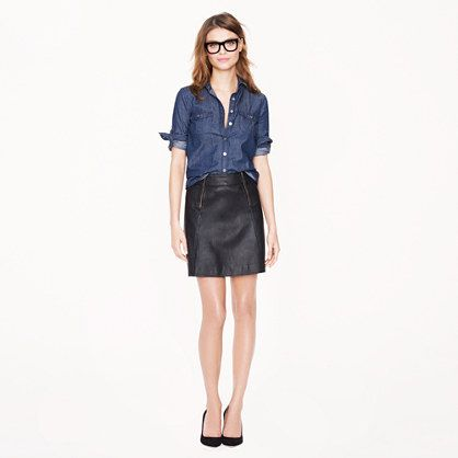 J.Crew Collection Leather Mini