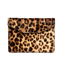 Jas M.B. Leather Faux Pony Clutch Bag