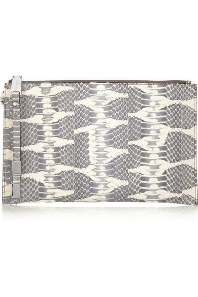 Michael Kors Miranda Watersnake Clutch