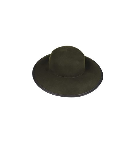 Gerard Darel Floppy Hat in Wool and Leather