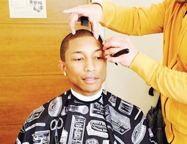 Getting Ready for the Oscars with Pharrell--and His Barber!