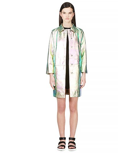 Marc by Marc Jacobs Metallic Leather Coat