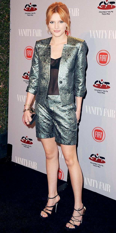 Bella Thorne's Seriously Cool Metallic Suit