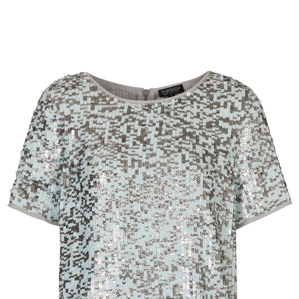 Topshop Multi Sequin Tee