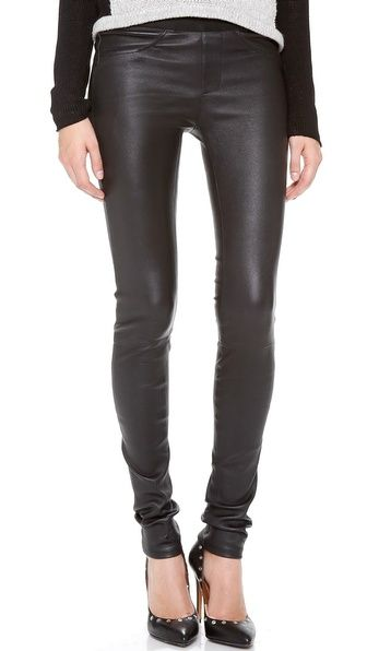 Helmut Lang Leather Skinny Pants