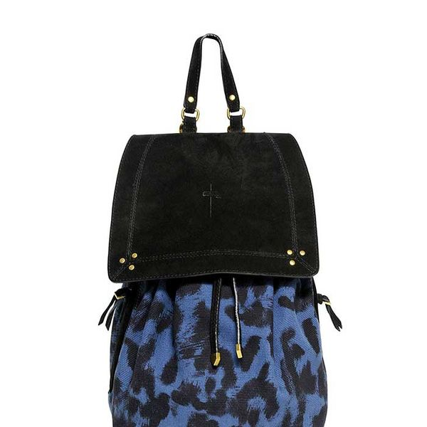 Jerome Dreyfuss Florent Leopard Printed Canvas Backpack