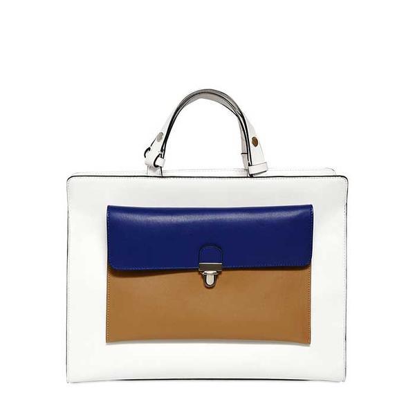 Marni Faux Leather Top Handle Bag