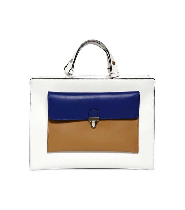 Marni Faux Leather Top Handle Bag