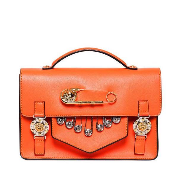 Versus Medium Saffiano Leather School Bag