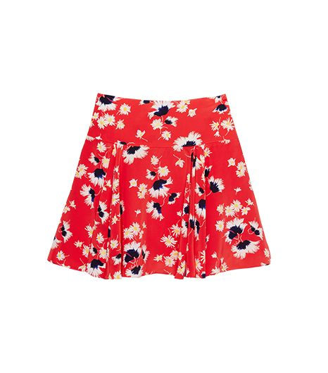 Juicy Couture Floral & Feather Print Skirt