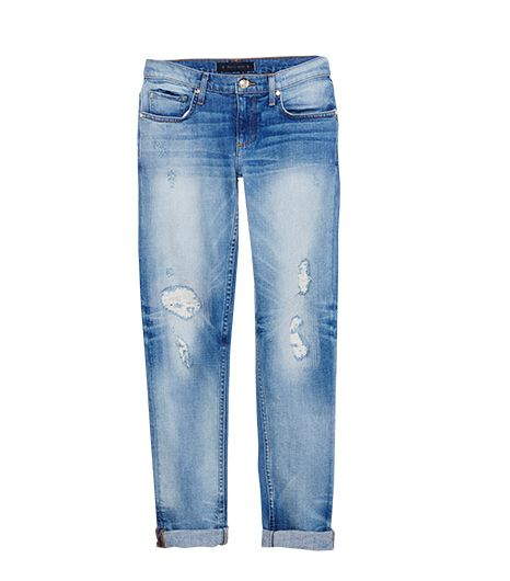 Juicy Couture Distressed Straight Rolled Jeans