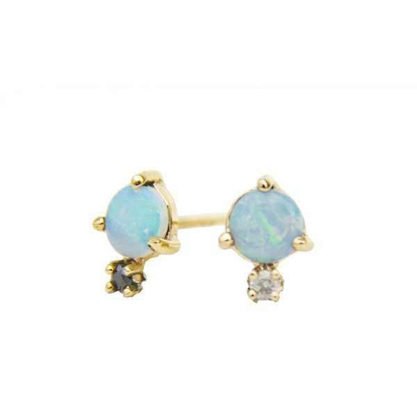 WWAKE Opal And Diamond Studs