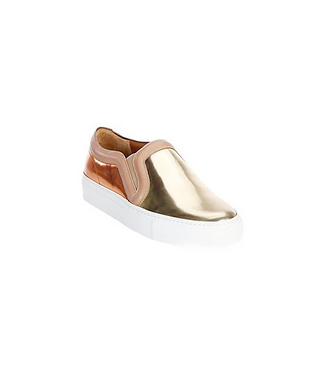 Givenchy Bicolor Metallic Leather Slip-On Sneakers