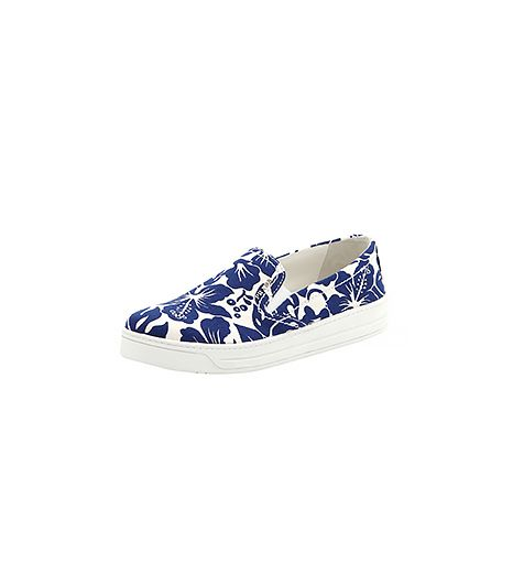 Prada Linea Rossa Floral-Printed Slip-On Sneaker