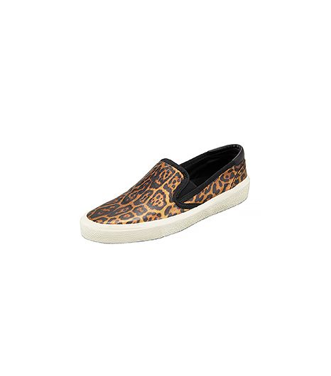 Saint Laurent Metallic Leopard Slip-On Sneaker