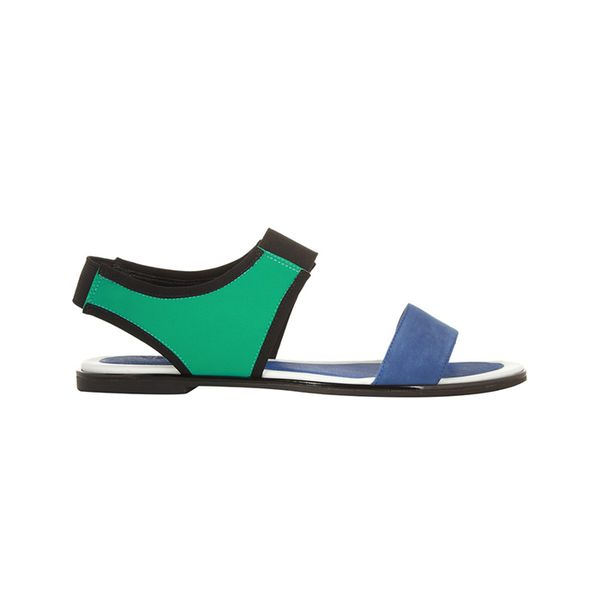 Kenzo Kenzo Color-Block Leather and Neoprene Sandals