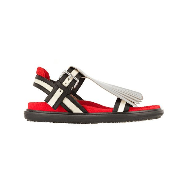 Marni Marni Convertible Fringed Leather Sandals
