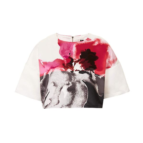 Topshop Limited Edition Floral Placemet Print Tee