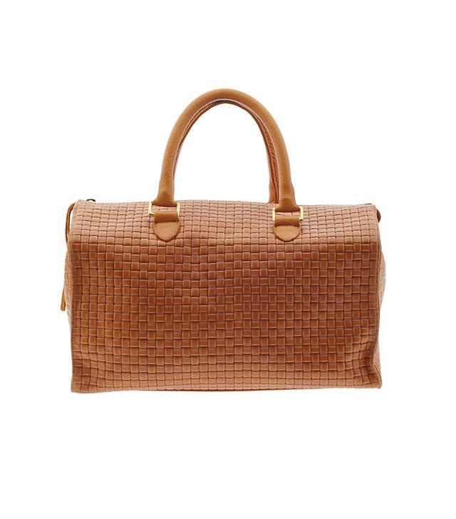 We love a bag with textured detailing.  Clare Vivier Sandrine Bag ($418)in Camel Basketweave