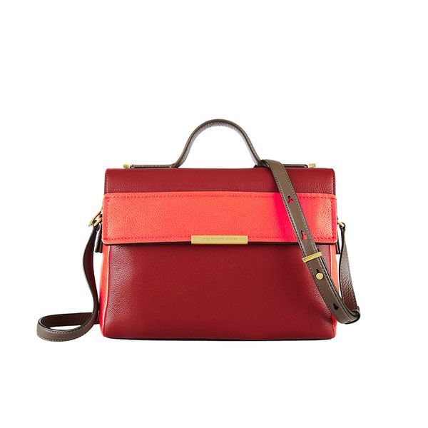 Marc by Marc Jacobs Hail To The Queen Diana Textured-Leather Shoulder Bag