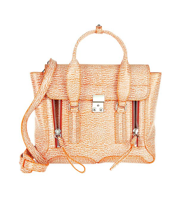Phillip Lim's signature trapeze bag gets a bright update! 