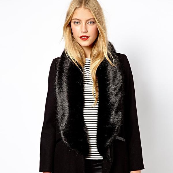 Oasis Full Fur Collar Coat