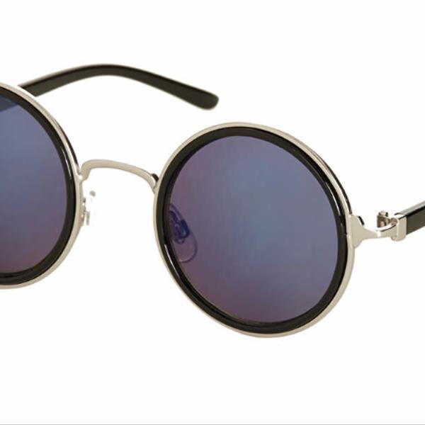 Topshop Mini Metal Round Sunglasses
