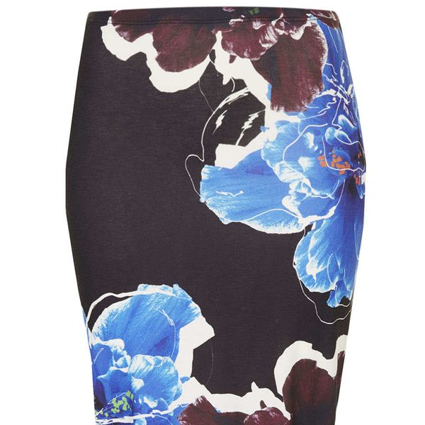 Topshop Floral Placement Tube Skirt