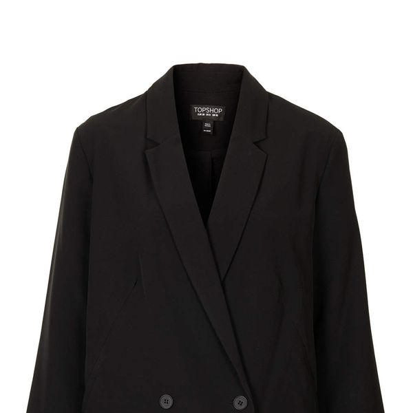 Topshop Double Breasted Long Blazer