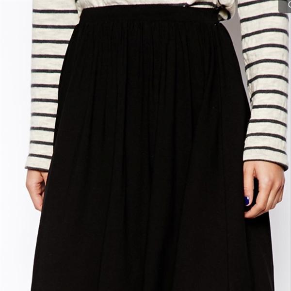 ASOS Full Long Line Skater Skirt