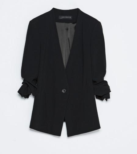 Zara Turn-Up Sleeve Blazer
