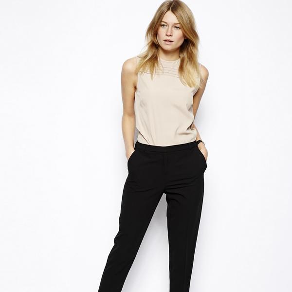 ASOS Crop Pants With Seam Detail