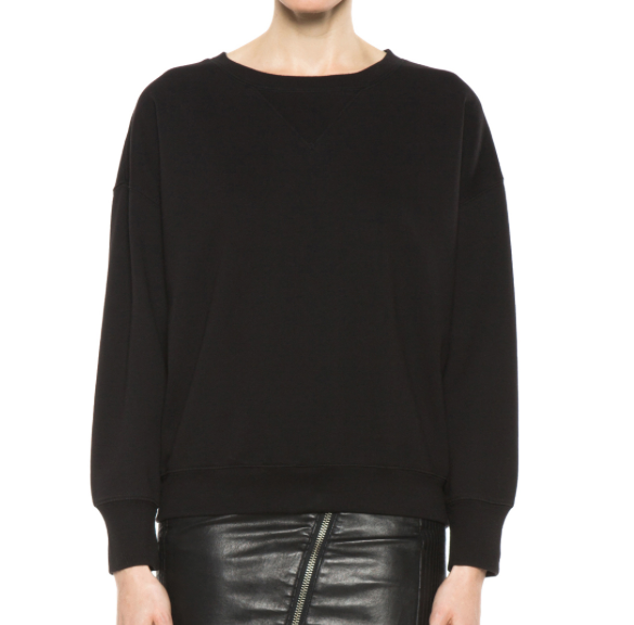 BLK DNM Oversized Dropped Shoulder Cotton-Blend Sweatshirt