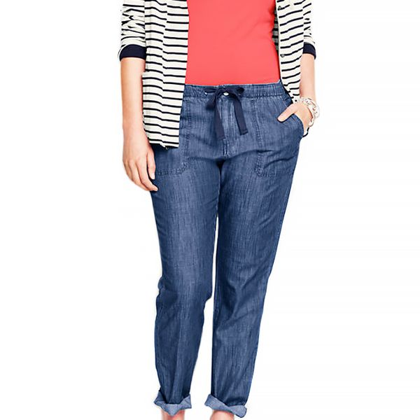 Lands' End Chambray Market Pants