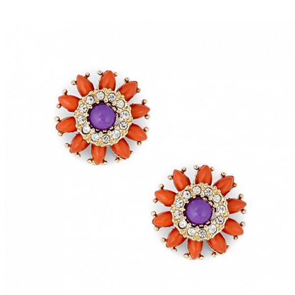 Sole Society Tribal Floral Studs