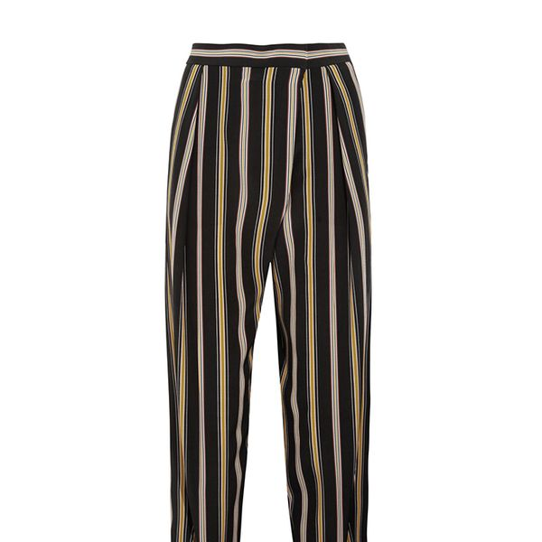 Chloé Striped Cropped Silk Pants