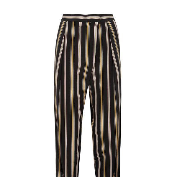Chloé Striped Cropped Silk Pants