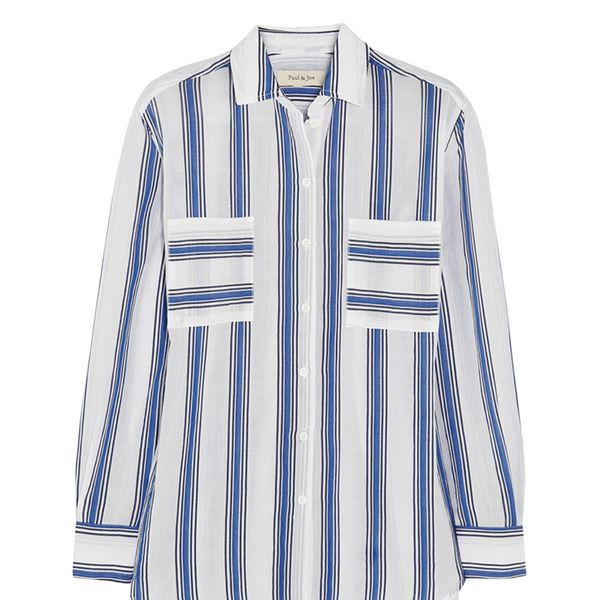 Paul & Joe Striped Cotton-Blend Shirt