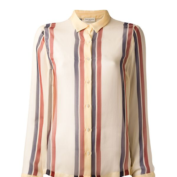 Dries Van Noten Stripe Print Blouse