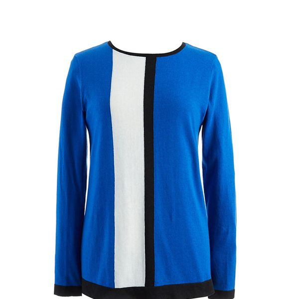 Vince Camuto Vertical Stripe Colorblock Sweater