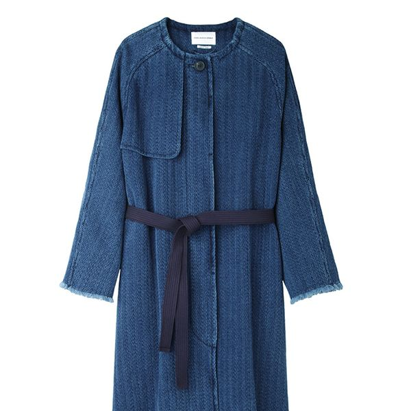 Isabel Marant Étoile Fany Chevron Denim Coat