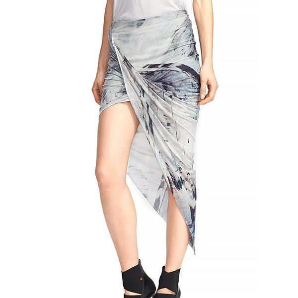 Helmut Lang Print Asymmetrical Twist Skirt