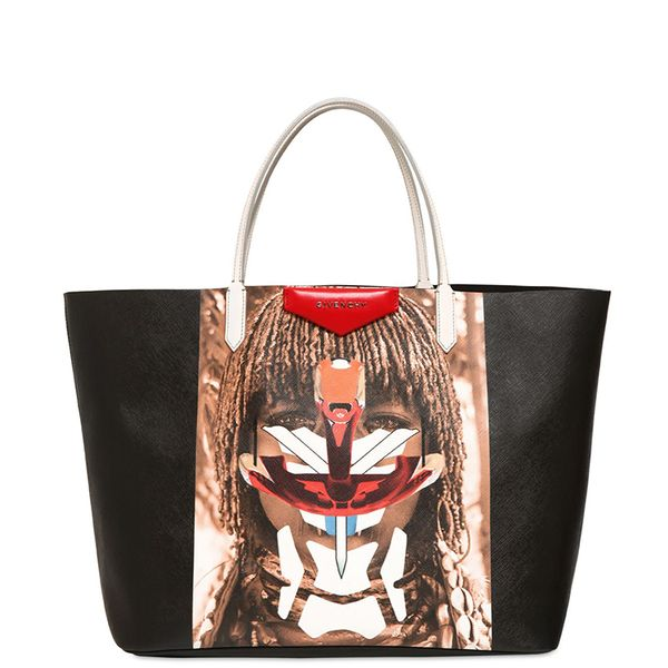 Givenchy Coated Canvas Tribal Girl Tote Bag