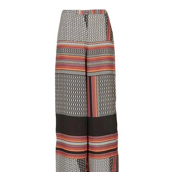 Topshop Tribal Border Wide Leg Trousers